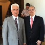Mark Meirowitz (on the right) with President of TRNC Derviş Eroğlu