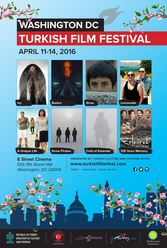 Turkish Film Festival will be held in Landmark E Street Cinema, on April 11-14 2016