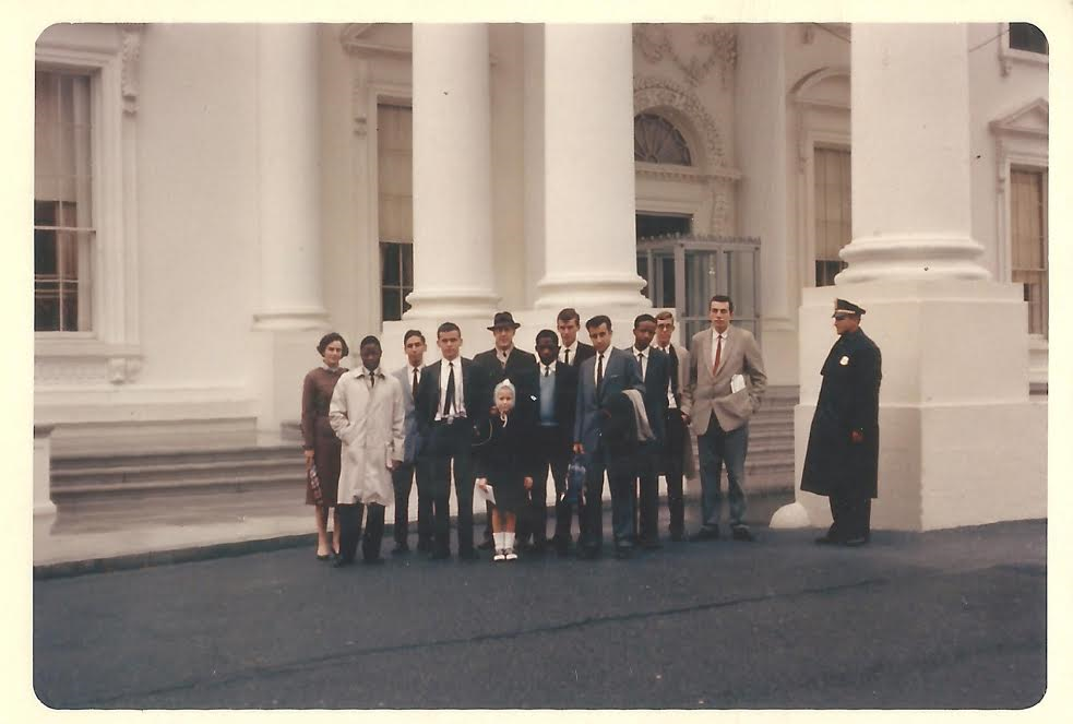 Photo 2-Sener Ozsahin with students from Princeton University in front of the White House, 1963. (Photo courtesy of Sener Ozsahin).