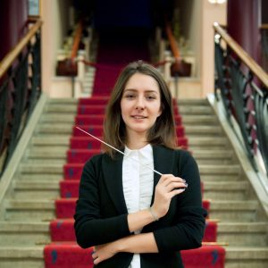 Nisan Ak is a rising, woman conductor from Turkey