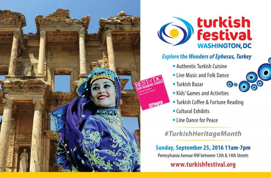 Explore the Wonders of Turkey in DC Sunday, September 25, 2016 | 11am - 7pm